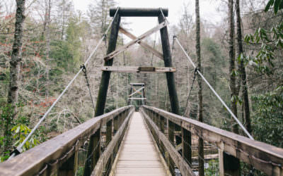 Swinging Bridge On The Toccoa River